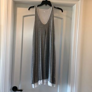 THREE DOTS size S rayon/lycra  double layer dress